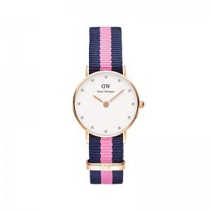 reloj daniel welintong correa azul rosa