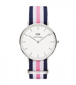 reloj daniel wellington azul blanco rosa