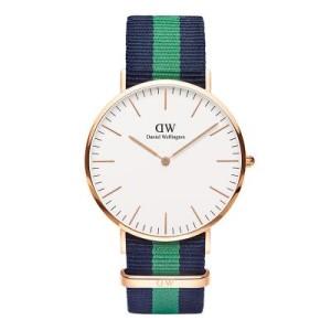 reloj daniel wellington azul verde