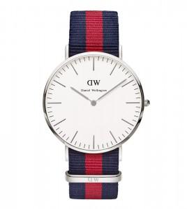 reloj daniel wellington hombre correa azul rojo azul