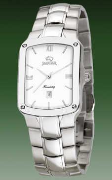 reloj jaguar acero cuadrado