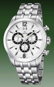 reloj jaguar acero cronometro