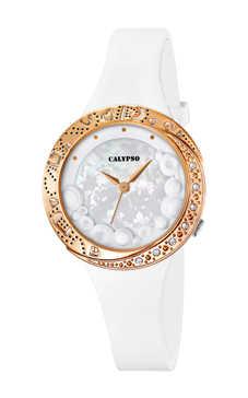reloj calypso blanco