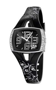 reloj calypso negro señora