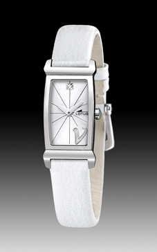 reloj lotus correa blanca