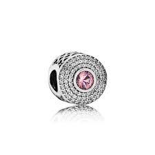abalorio pandora circonitas y piedras rosa