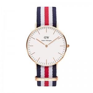 reloj daniel wellington correa nato azul blanco rojo