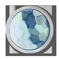 mi moneda talla S acero cristal azul