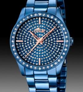 reloj lotus acero azul mujer