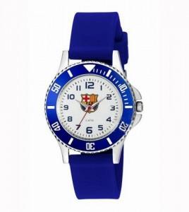 reloj bacelona cadete caja acero y corre caucho azul