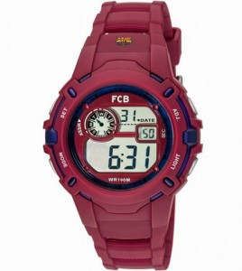 reloj fc barcelona granate digital cadete