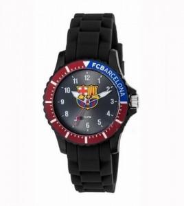 reloj fc barcelona cadete caucho negro