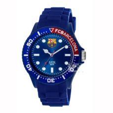 reloj fc barcelon caballero caucho azul