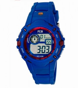 reloj fc barcelona cadete digital correa azul
