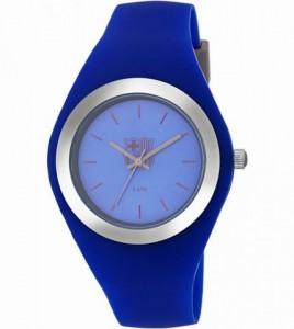 reloj fc barcelona mujer caucho azul