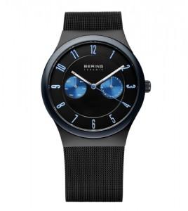reloj bering armys malla esfera negra azul