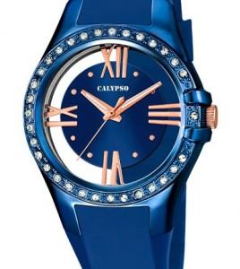 reloj calypso azul