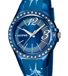 reloj calypso azul numero acero