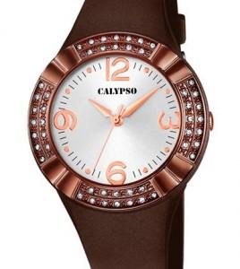reloj calypso correa caucho marron