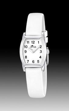 reloj lotus comunion correa piel blanca