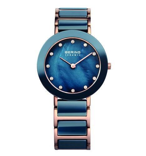 reloj bering ceramica azul