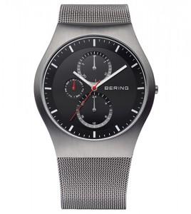 reloj bering malla gris