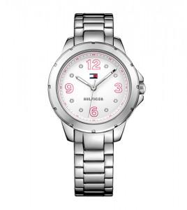 reloj tommy acero numeros rosas