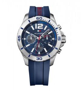 reloj tommy acero caucho azul multifuncion
