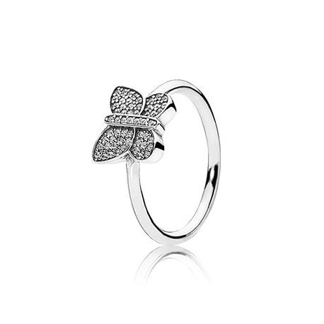 anillo pandora mariposa circonitas