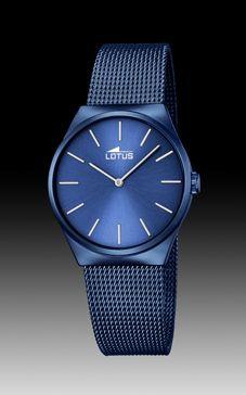 reloj lotus malla azul