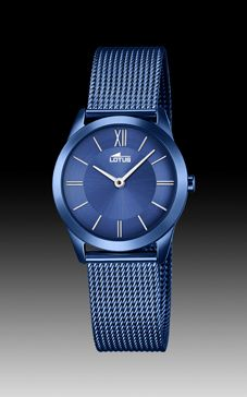 reloj malla azul marino lotus