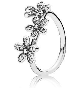 anillo 3 flores pandora
