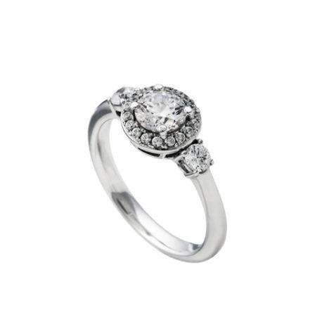 anillo diamonfire plata redondo
