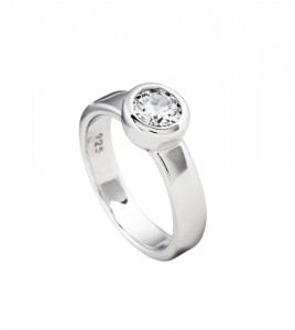diamonfire anillo plata