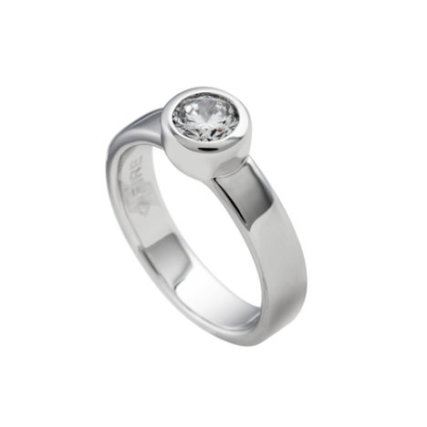 anillo plata diamonfire