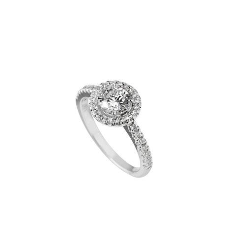 anillo redondo circonitas
