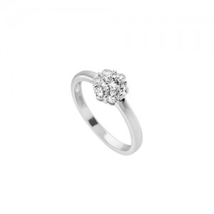 anillo flor diamondire