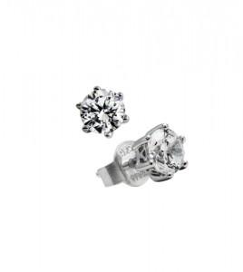 roseton plata pendientes diamonfire