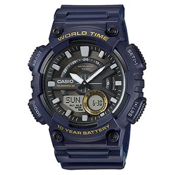 reloj caballero casio azul