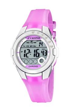 reloj digital calypso rosa
