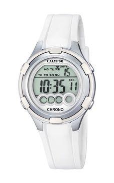 reloj digital calypso blanco