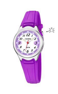 reloj lila numeros calypso