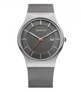 reloj bering caballero esfera gris