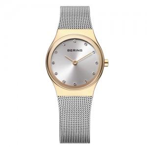 reloj bering mujer acero caja dorada