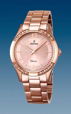 reloj festina acero chapado rose