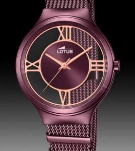 reloj lotus acero violeta