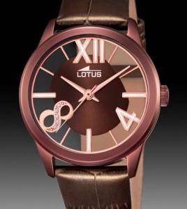 reloj lotus marron chocolate