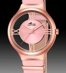 reloj lotus correa rosa