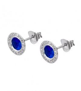pendientes azules piedras lotus silver