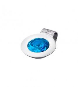 colgante lotus silver azul
